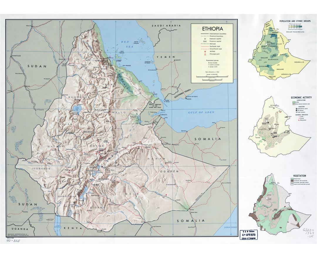 Maps of ethiopia detailed map of ethiopia in english tourist map large scale detailed country profile map of ethiopia 1969 gumiabroncs Image collections