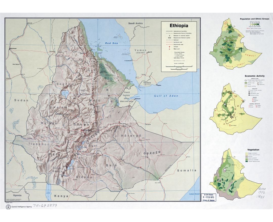 Maps of ethiopia detailed map of ethiopia in english tourist map large scale detailed country profile map of ethiopia 1972 gumiabroncs Gallery