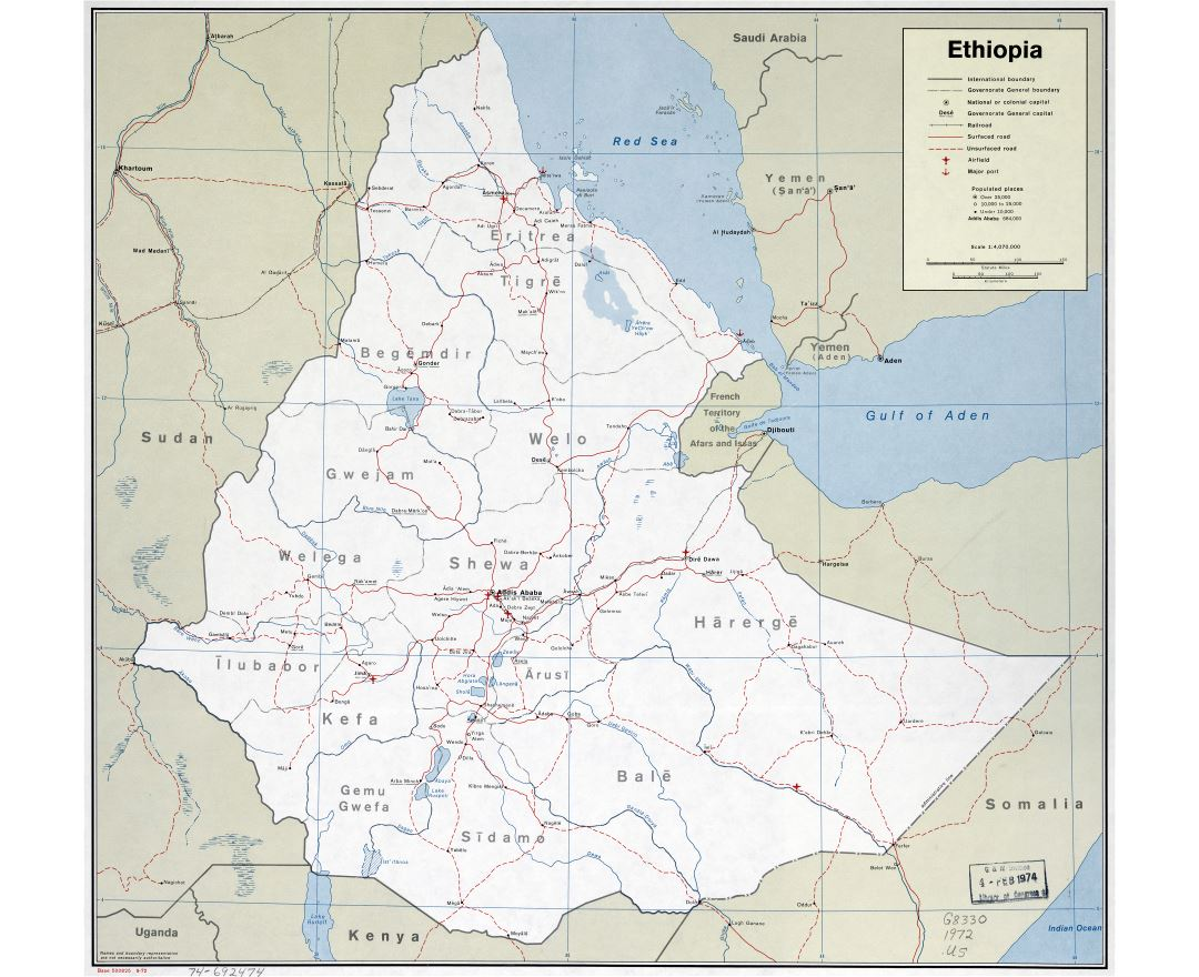 Ethiopia Map With Cities
