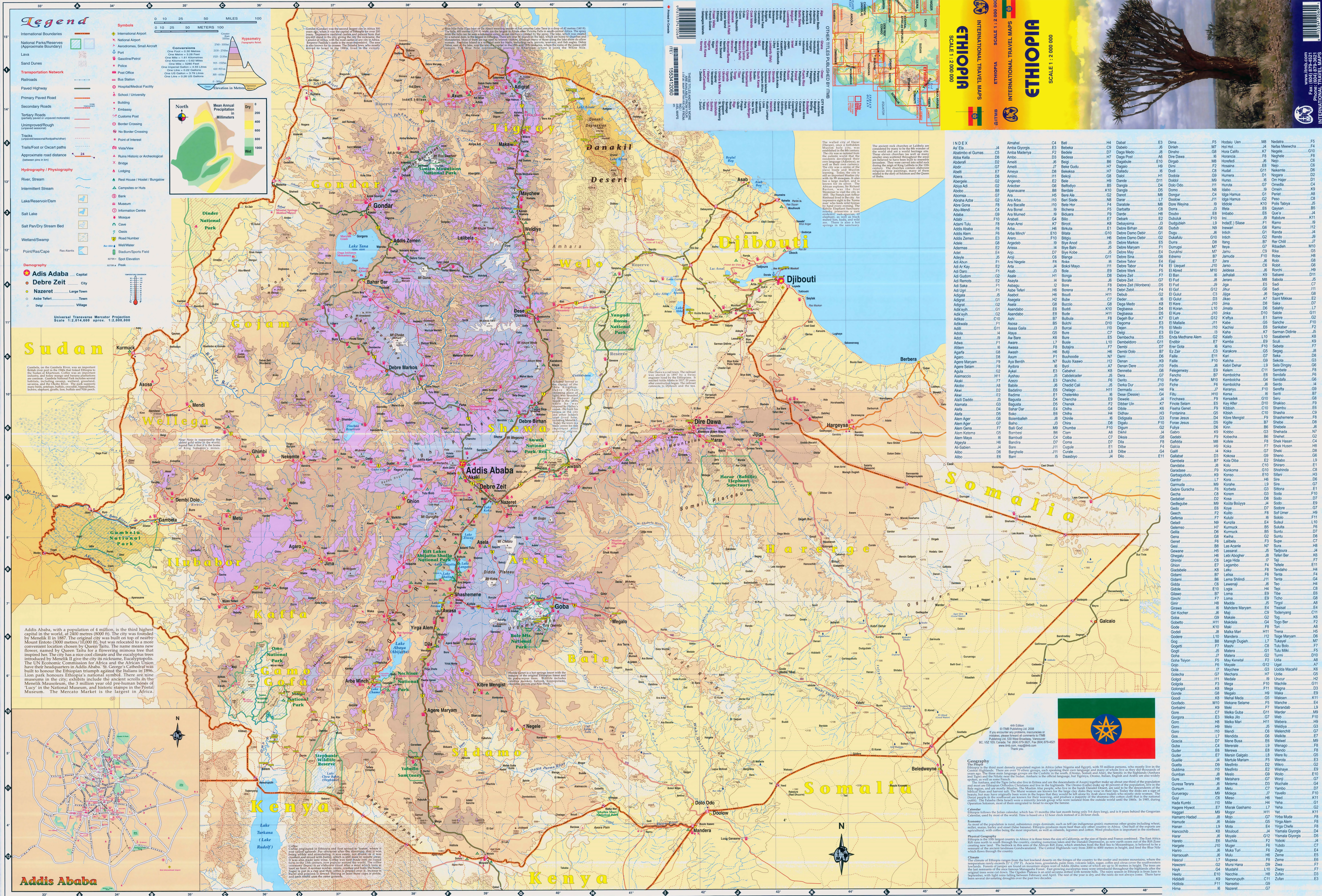 Large scale elevation map of ethiopia with roads cities and other large scale elevation map of ethiopia with roads cities and other marks gumiabroncs Gallery