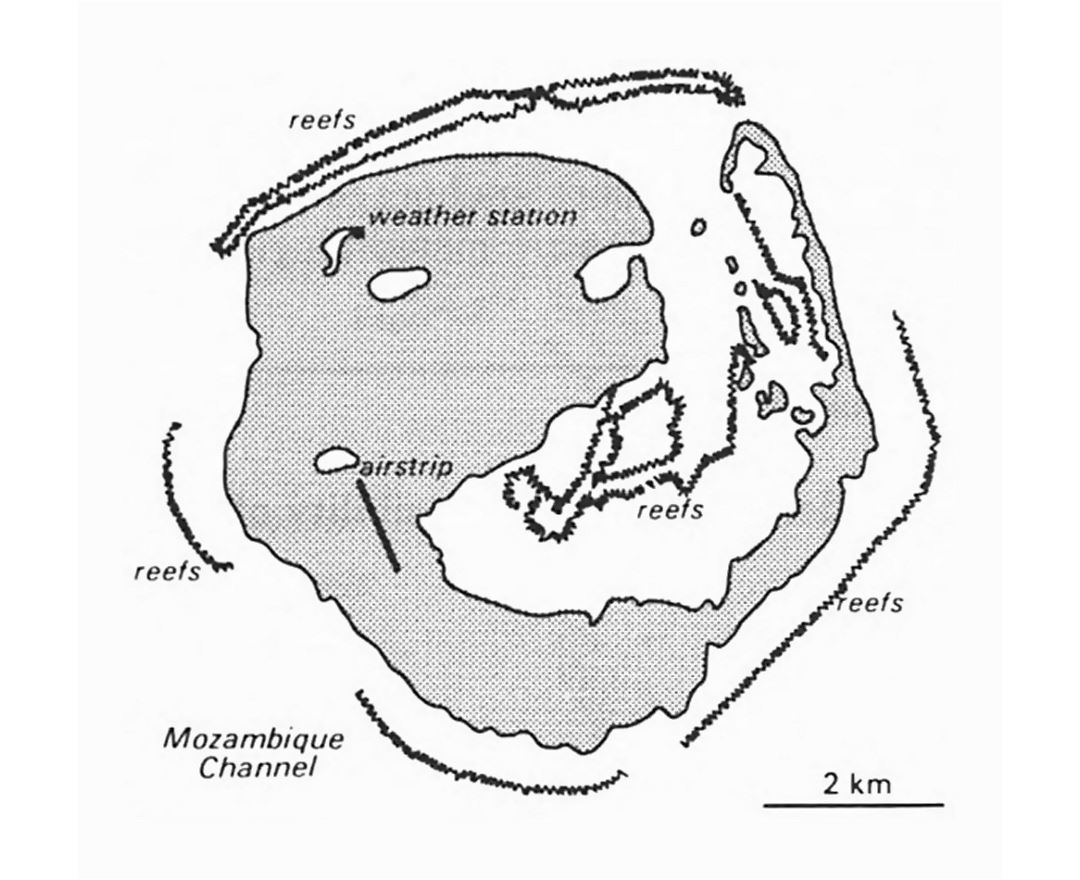 Detailed map of Europa Island
