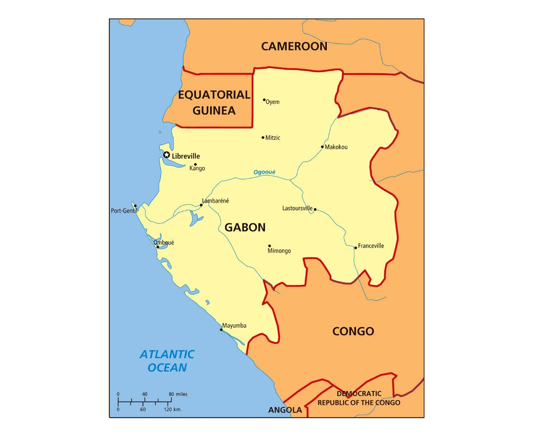 Maps Of Gabon Detailed Map Of Gabon In English Tourist Map - Gabon blank map