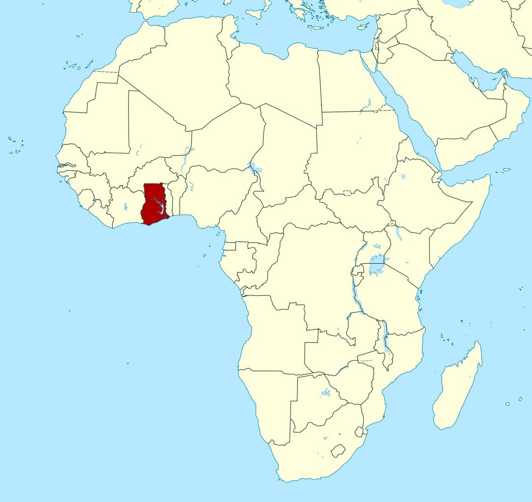 Detailed Location Map Of Ghana In Africa Ghana Africa - Map of ghana