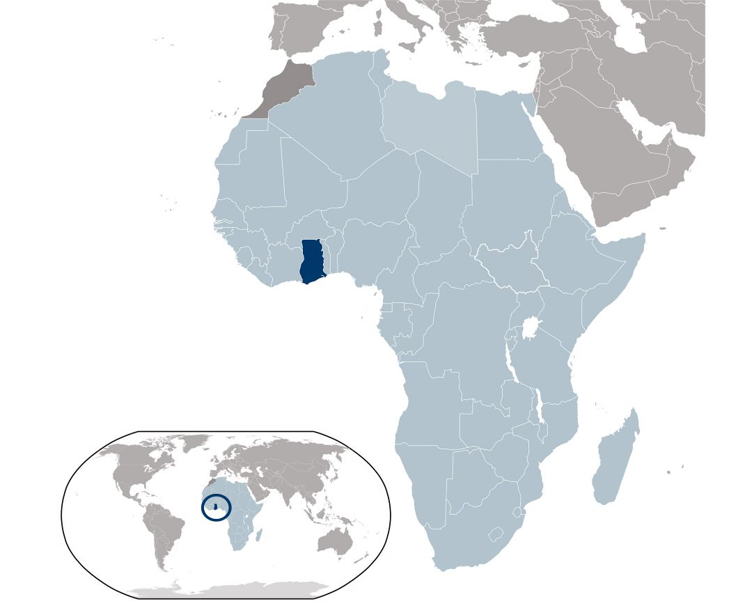 Maps Of Ghana Detailed Map Of Ghana In English Tourist Map - Where is ghana located