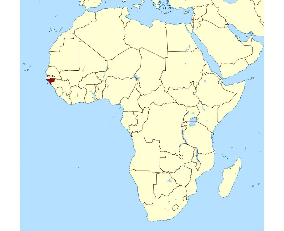 Maps Of GuineaBissau Detailed Map Of GuineaBissau In English - Guinea bissau map
