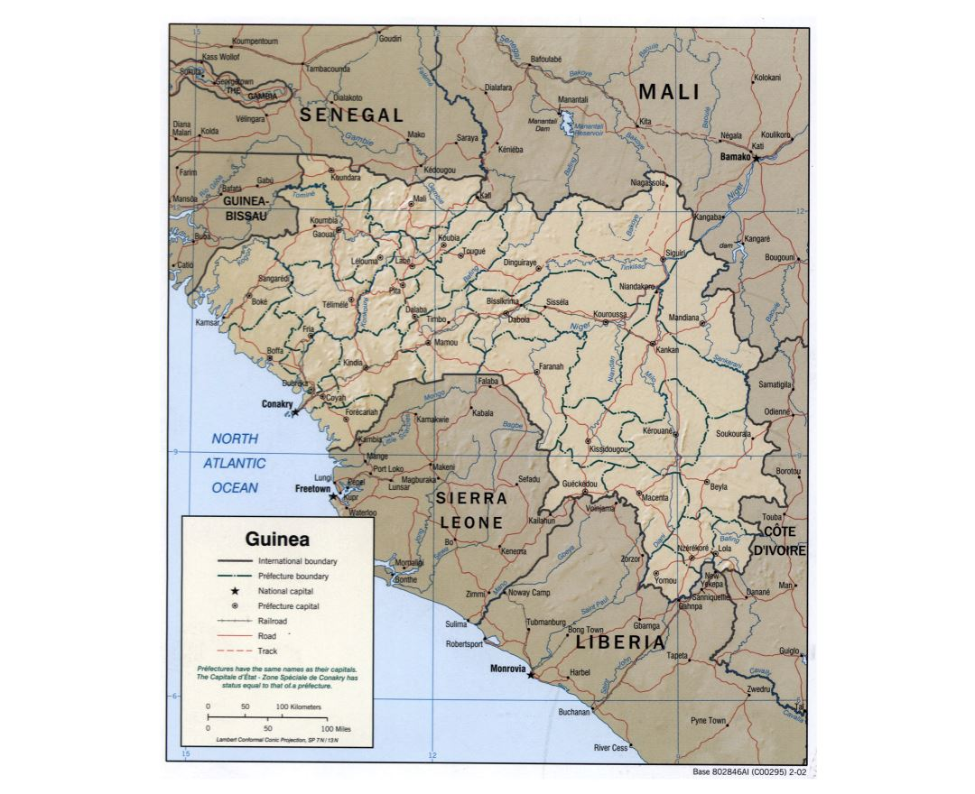 Maps of Guinea Detailed map of Guinea in English Tourist map