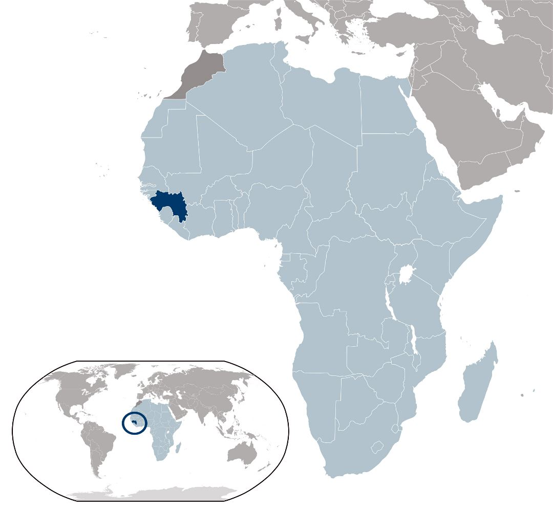 Large location map of Guinea