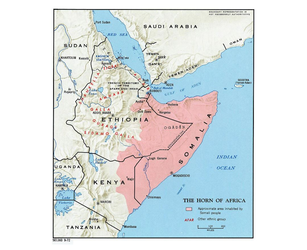 Maps of Horn of Africa | Collection of maps of Horn of Africa