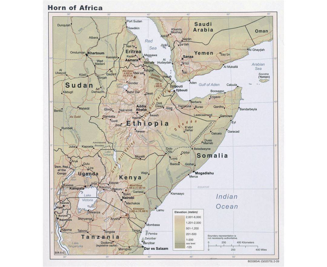 Maps of Horn of Africa Horn of Africa maps Collection of