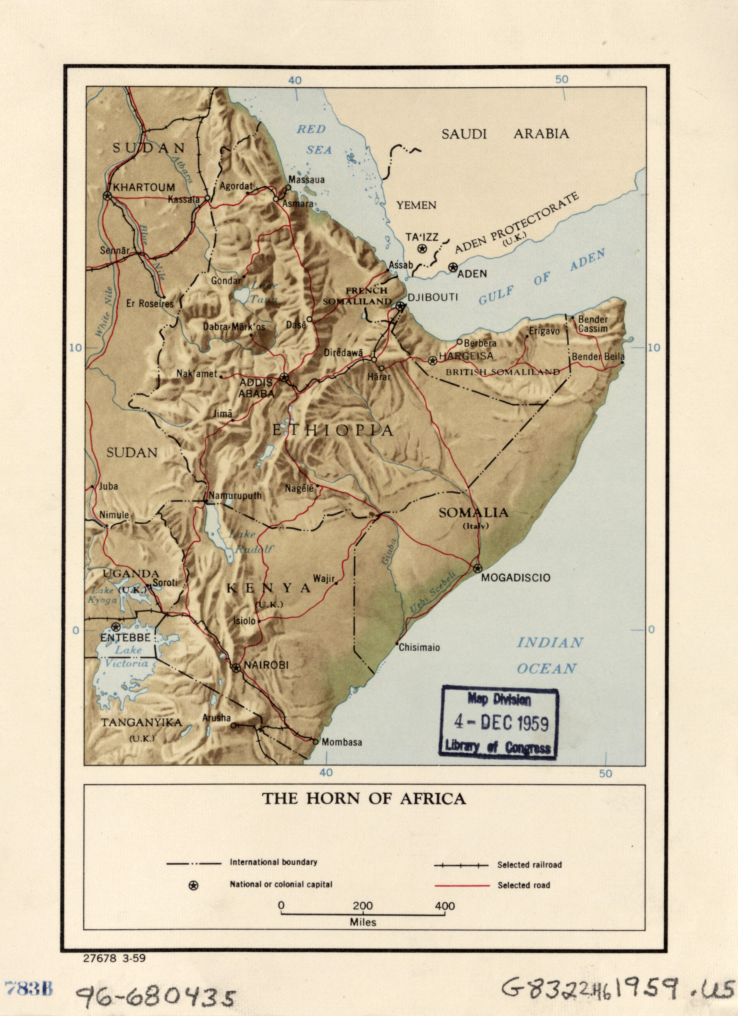 Large detailed political map of the horn of africa with relief large detailed political map of the horn of africa with relief roads railroads gumiabroncs Image collections