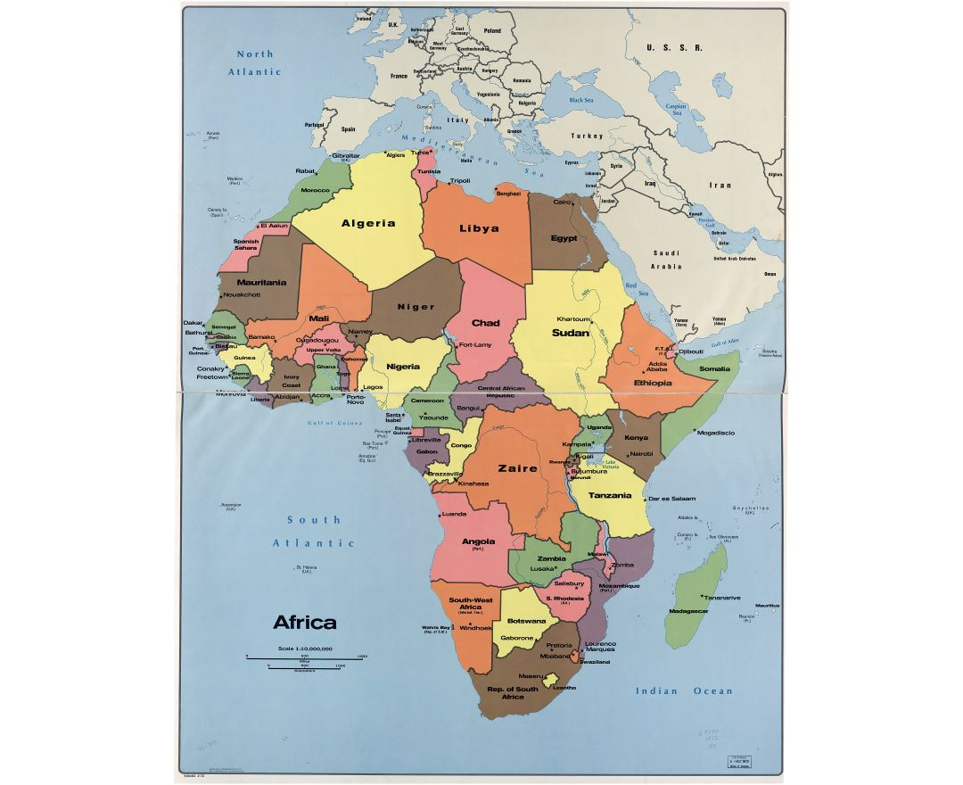 Maps Of Africa And African Countries Political Maps Road And - Africa map countries