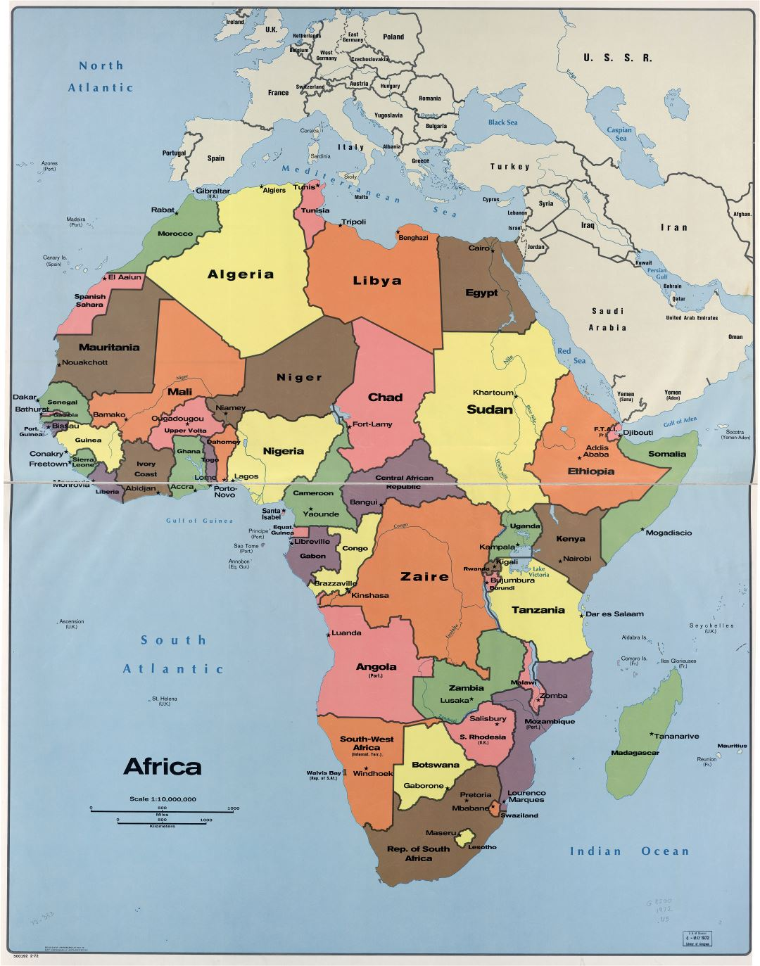 map of africa showing capital cities In High Resolution Detailed Political Map Of Africa With The Marks map of africa showing capital cities