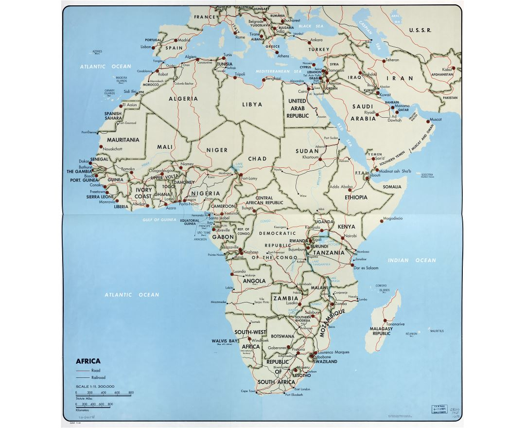 Maps Of Africa And African Countries Political Maps Road And - World map with country names high resolution