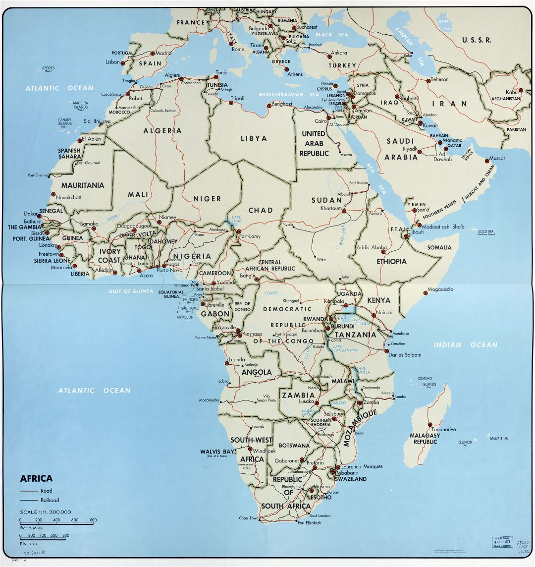 Map Of Africa With Countries And Capitals.In High Resolution Detailed Political Map Of Africa With The Marks