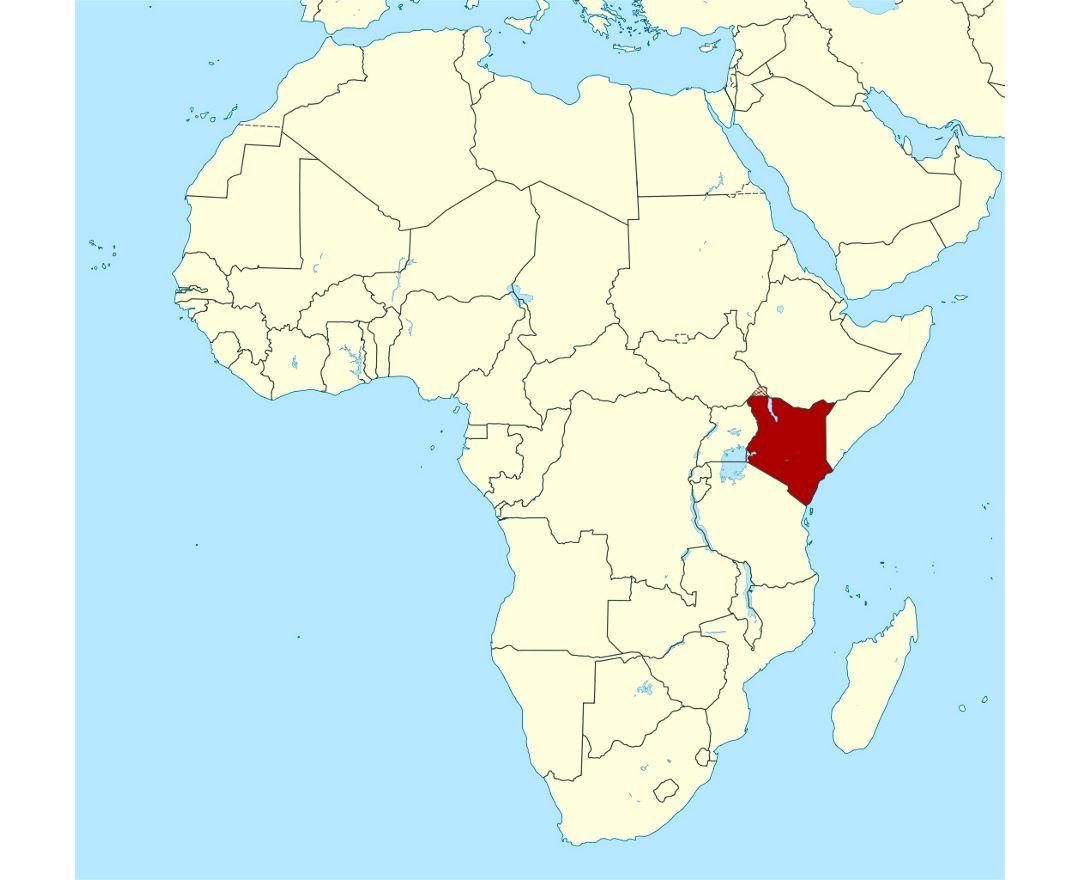 Maps of Kenya | Collection of maps of Kenya | Africa | Mapsland ...