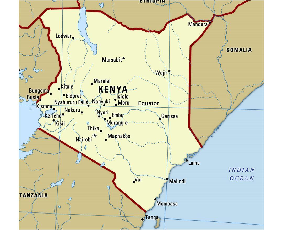 Maps Of Kenya Detailed Map Of Kenya In English Tourist Map - Kenya map
