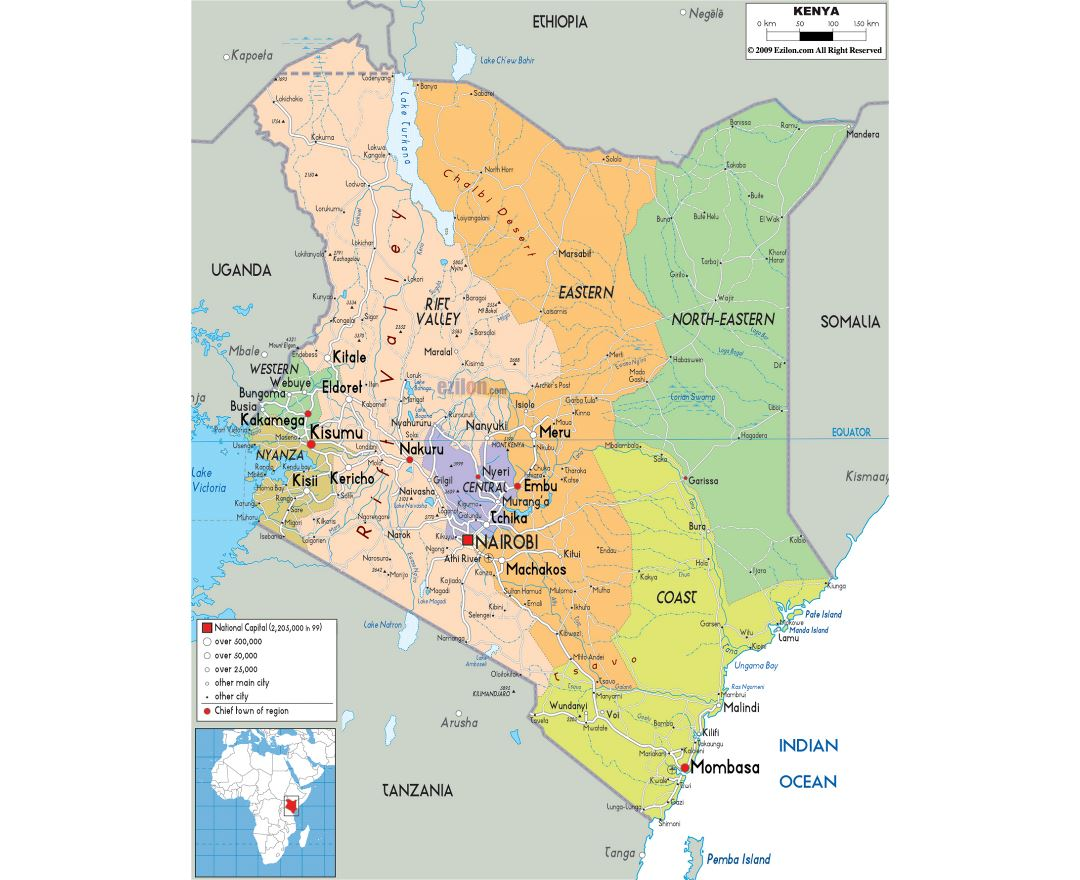 Maps Of Kenya Collection Of Maps Of Kenya Africa Mapsland Maps Of The World
