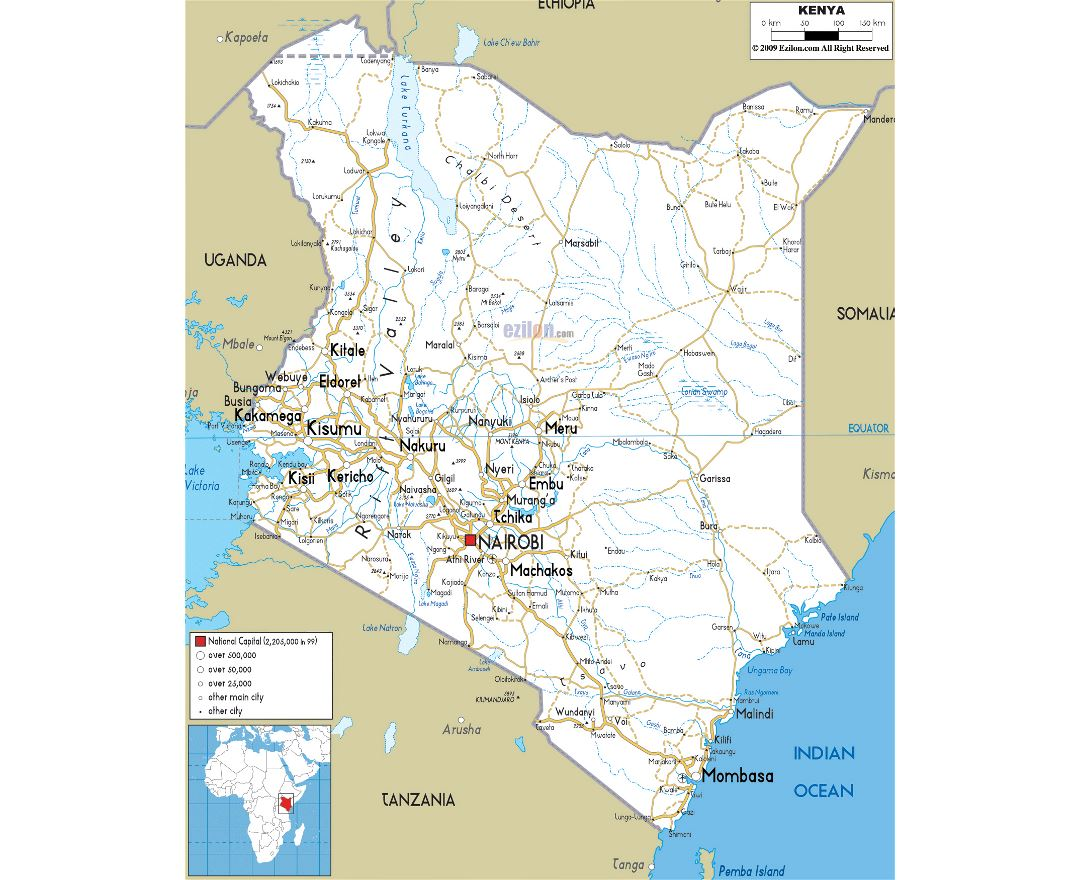 Maps of Kenya Detailed map of Kenya in English Tourist map