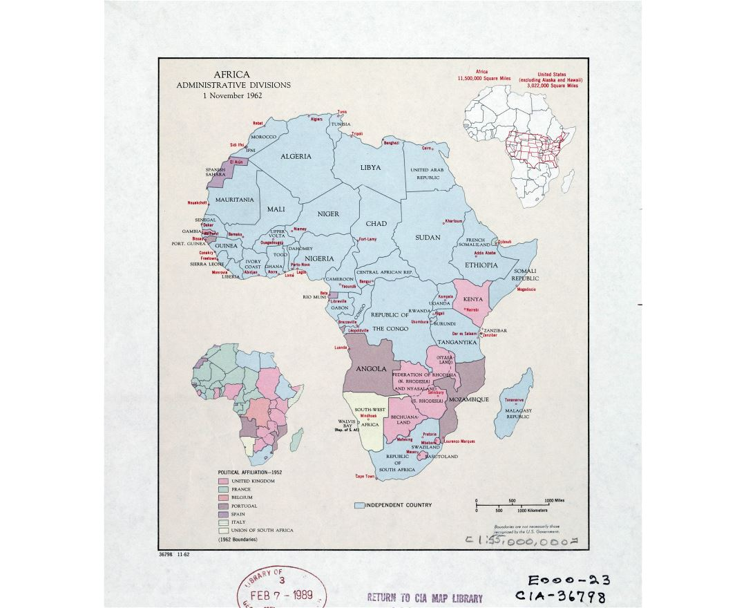 Maps of Africa and African countries Political maps Road and