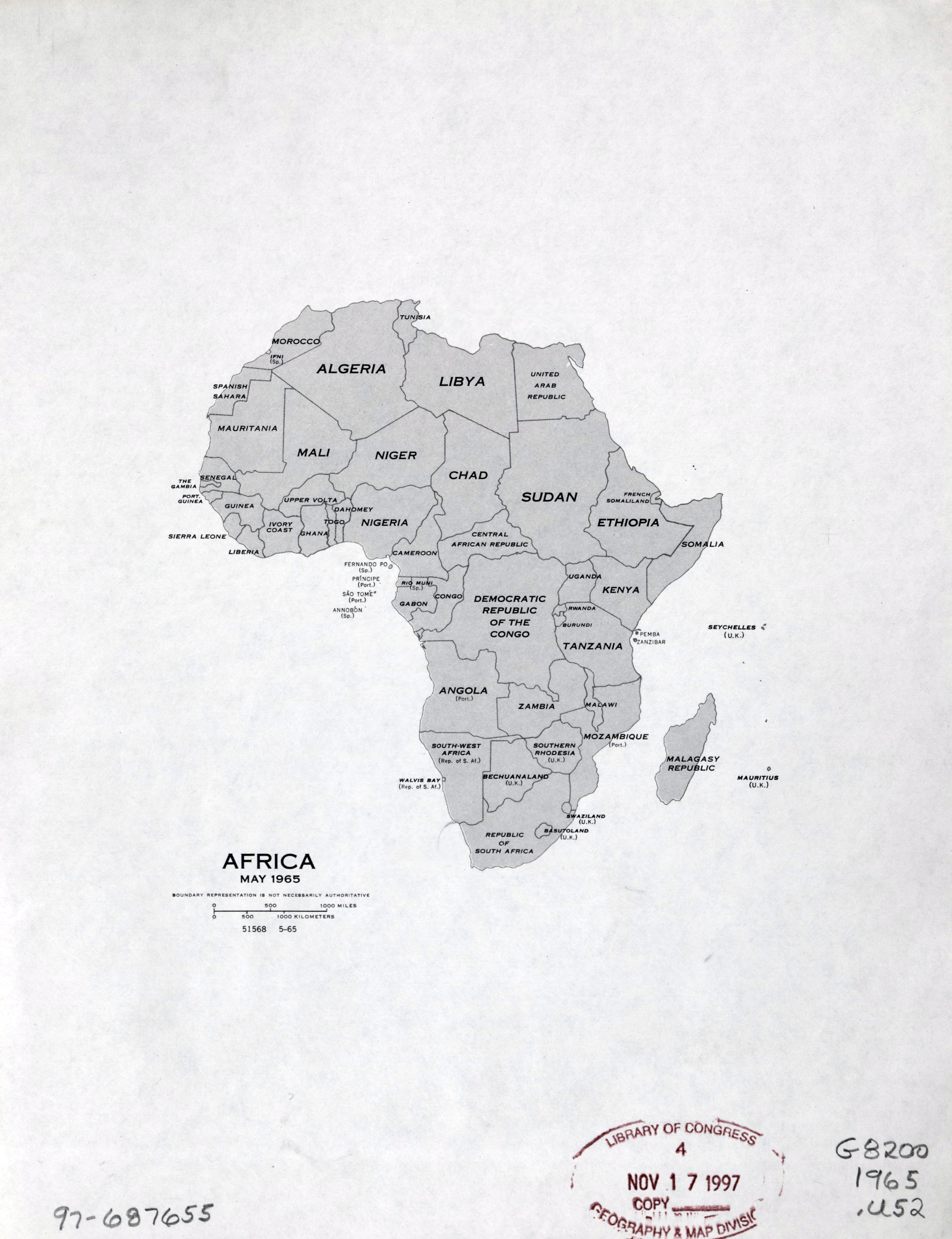 Large Detailed Political Map Of Africa With Names Of Countries - Africa political map without names