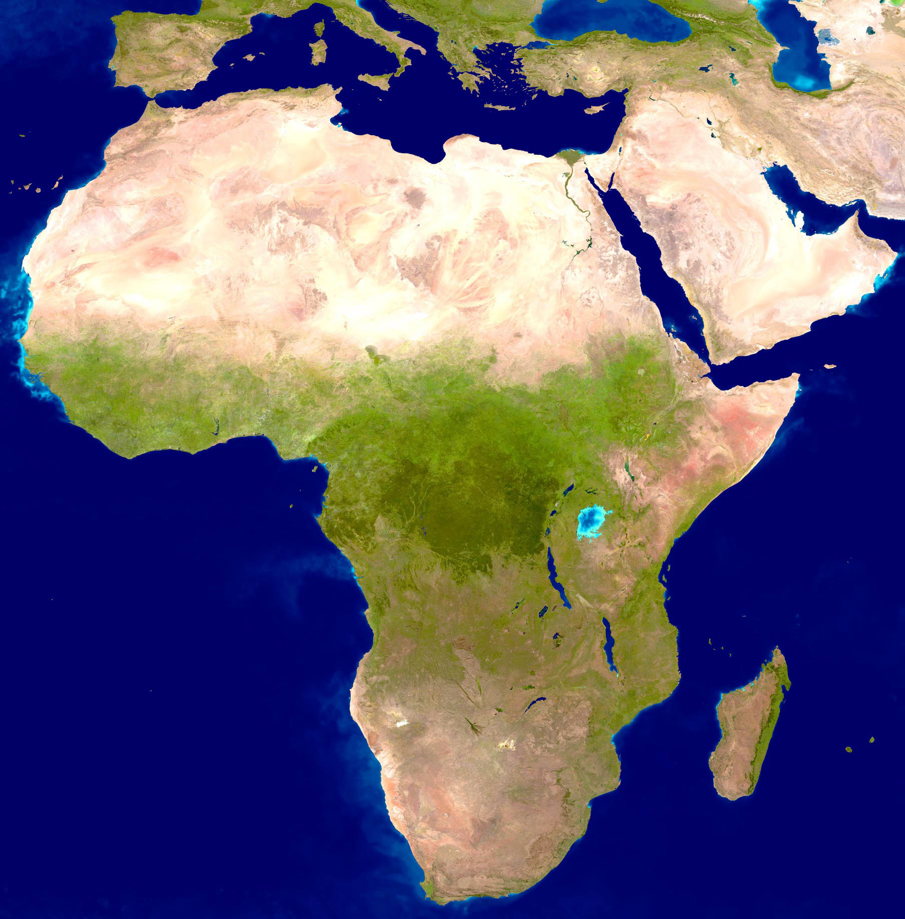 Africa Satellite Map Large detailed satellite map of Africa | Africa | Mapsland | Maps