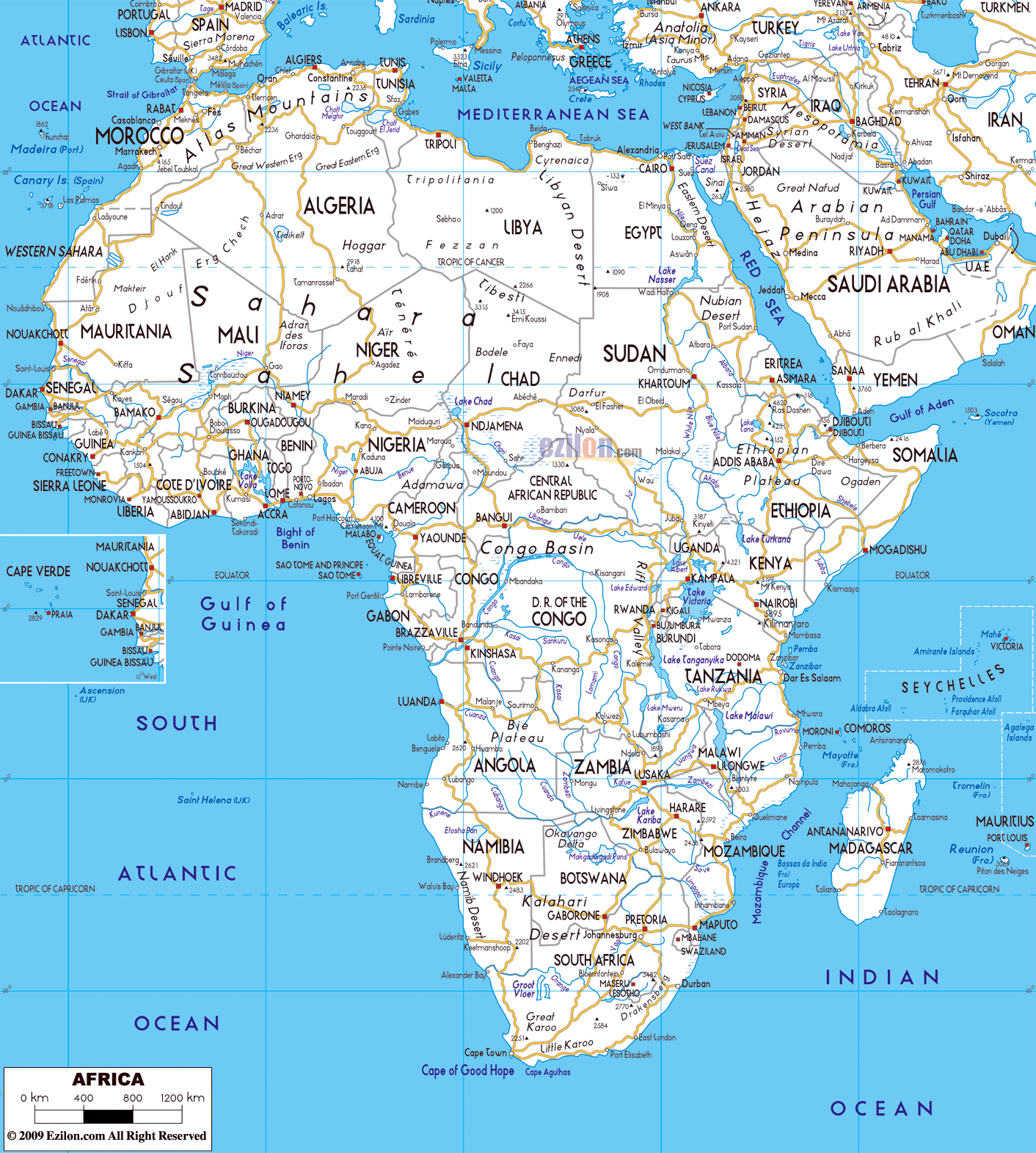 Map Of Major Cities In Africa | Map Of Africa