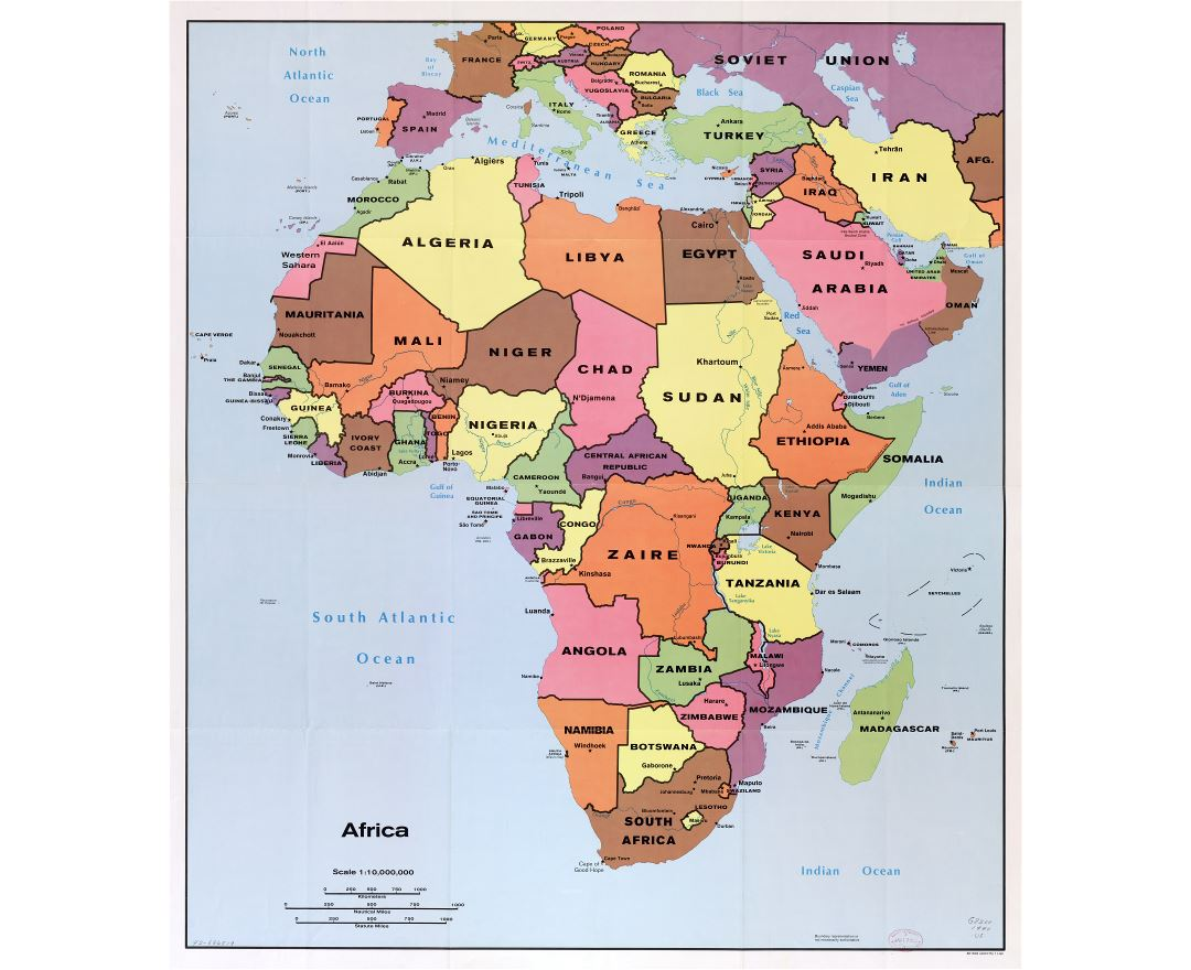 Maps Of Africa And African Countries Political Maps Road And - Map of africa countries