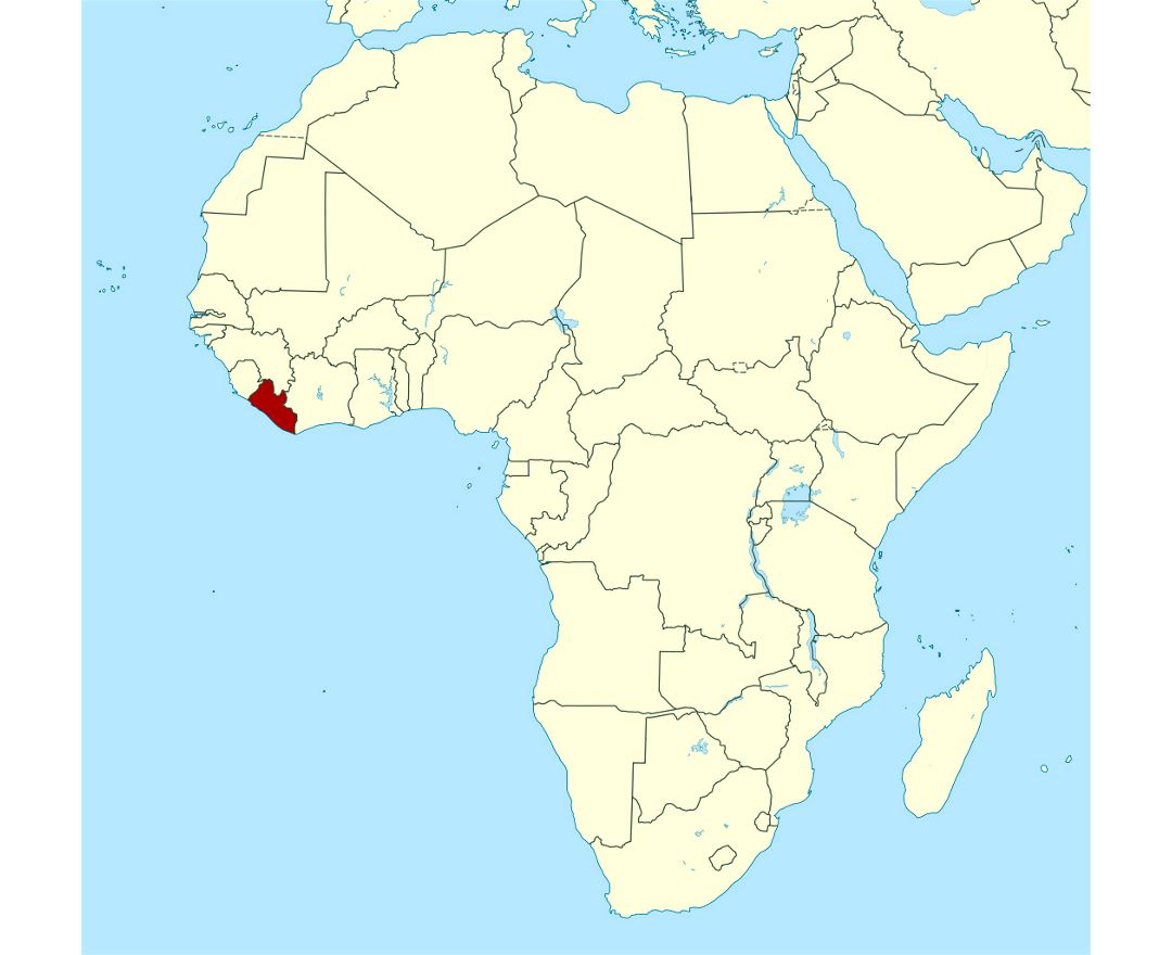 Maps of liberia detailed map of liberia in english tourist map detailed location map of liberia in africa gumiabroncs Choice Image