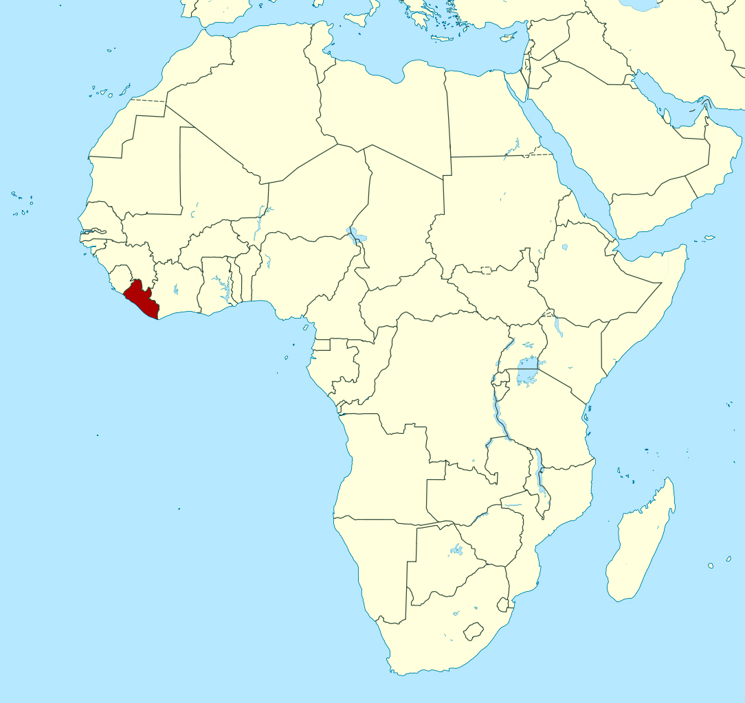 Detailed location map of Liberia in Africa | Liberia | Africa