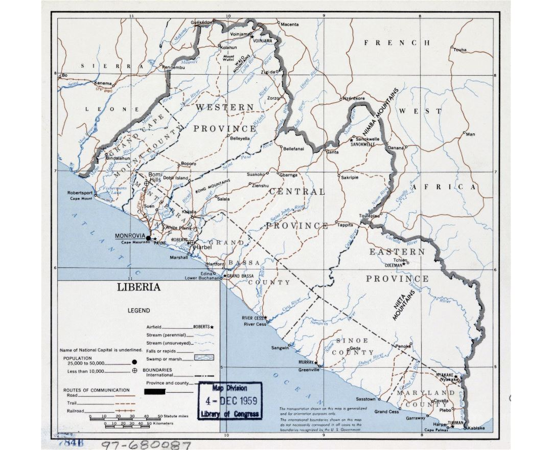 Maps of Liberia Detailed map of Liberia in English Tourist map