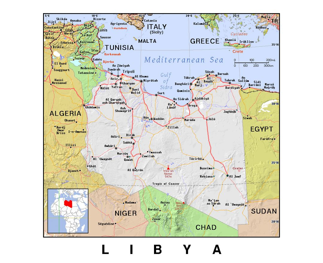 Maps of Libya Detailed map of Libya in English Tourist map