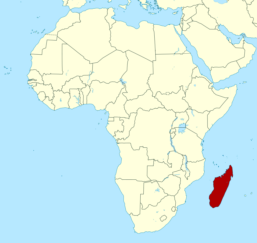 Map Of Africa Madagascar