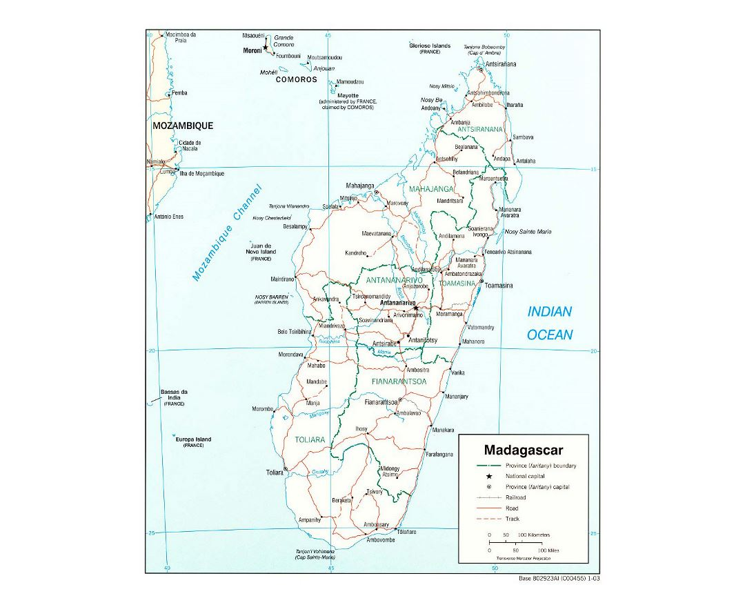 Maps of Madagascar Detailed map of Madagascar in English Tourist
