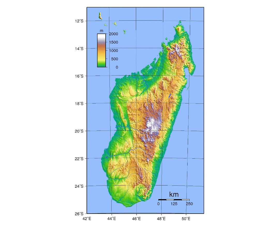Topographic Map Of Madagascar.Maps Of Madagascar Collection Of Maps Of Madagascar Africa