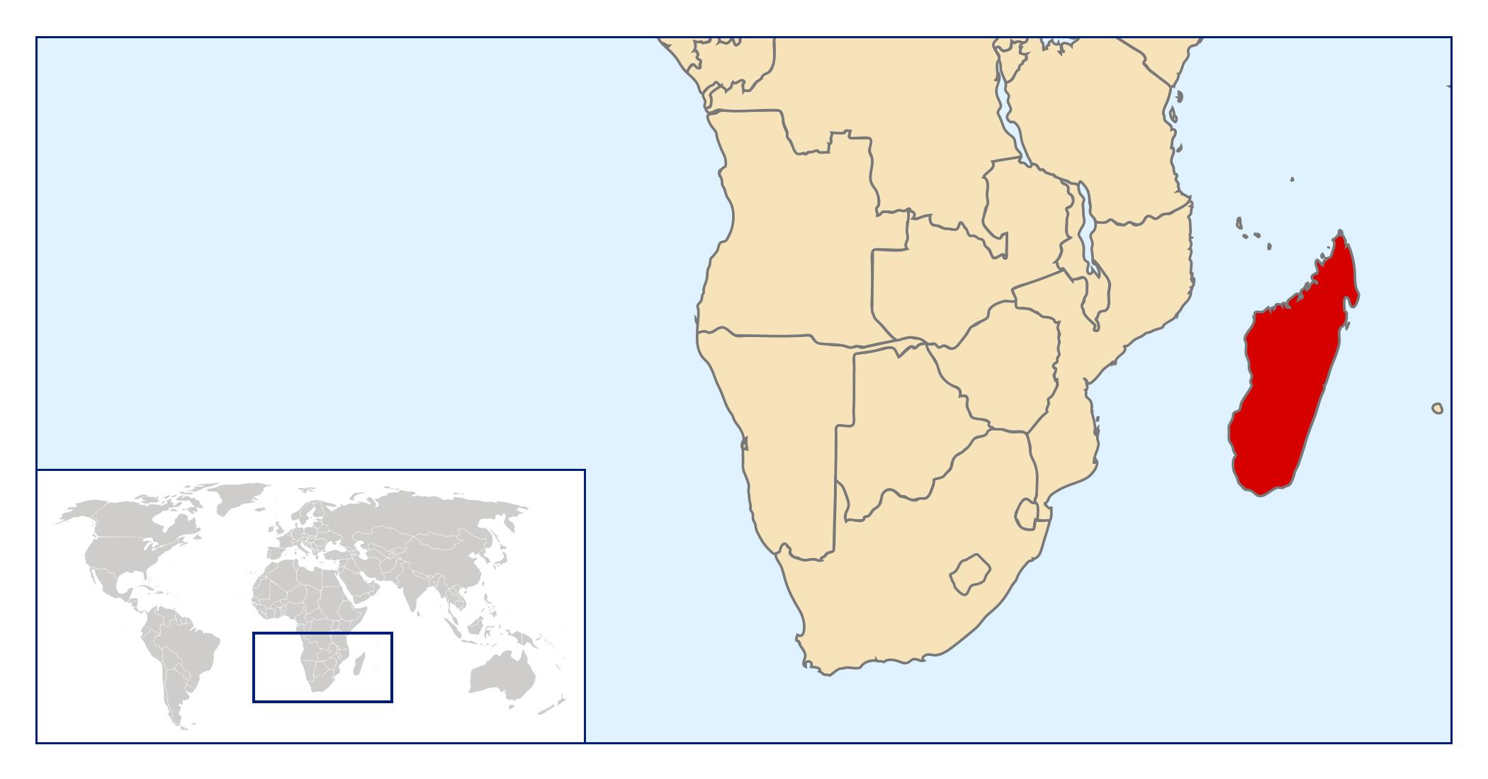 Large location map of Madagascar | Madagascar | Africa | Mapsland ...