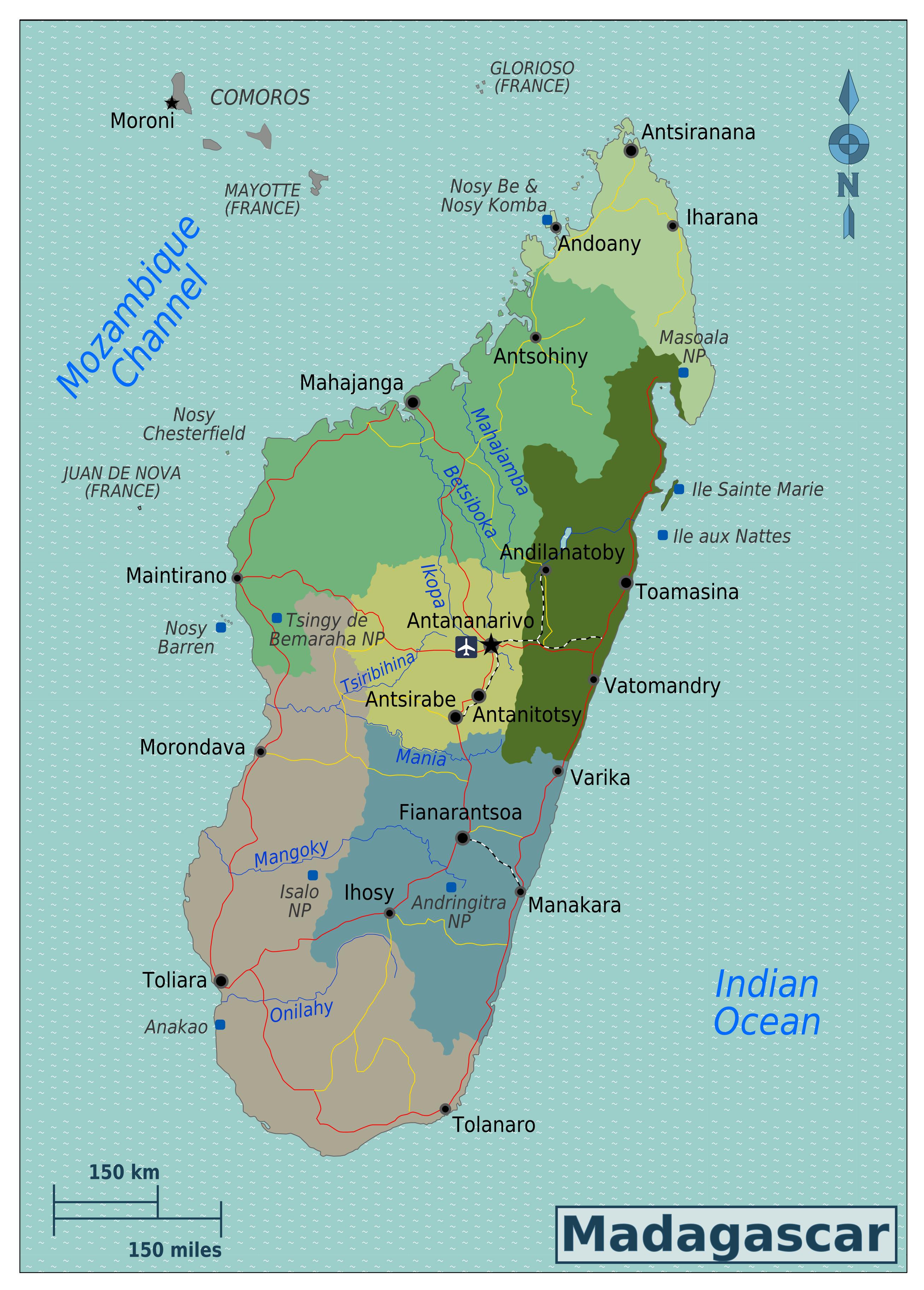 Map Of Africa Regions.Large Regions Map Of Madagascar Madagascar Africa