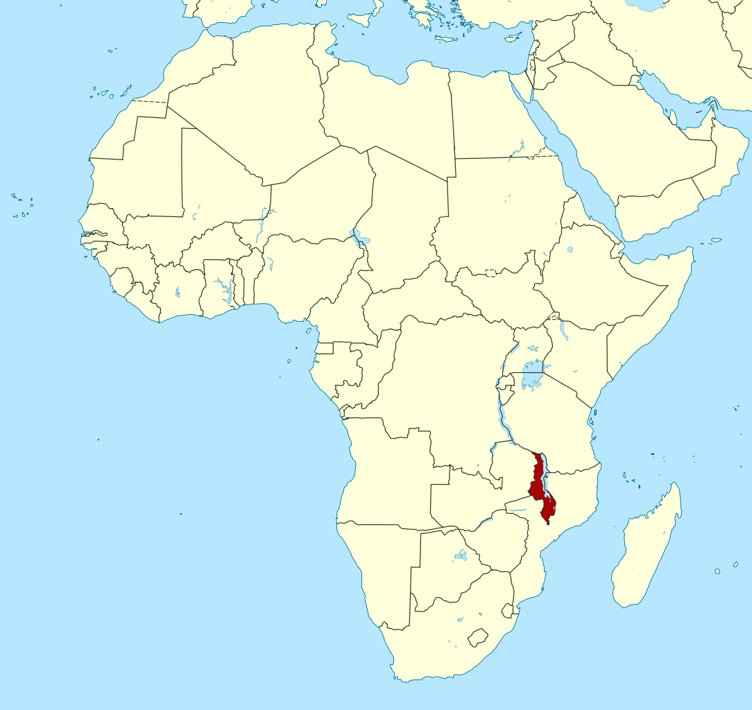 Detailed location map of Malawi in Africa | Malawi | Africa
