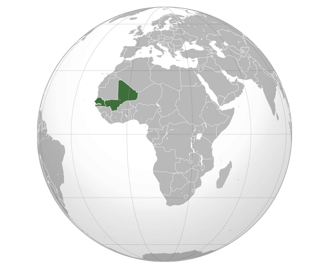 Large location map of Mali in Africa