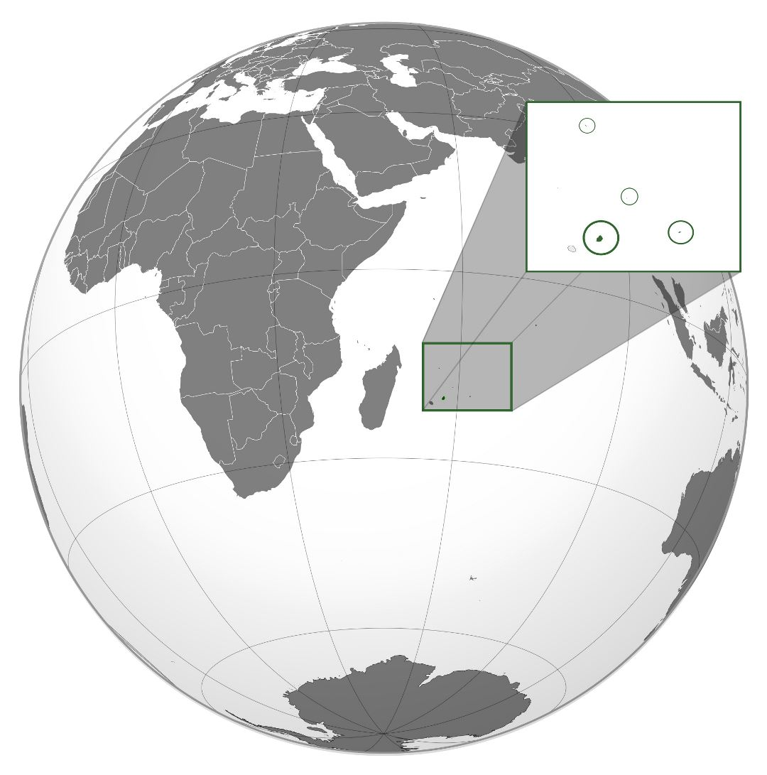 Large location map of Mauritius