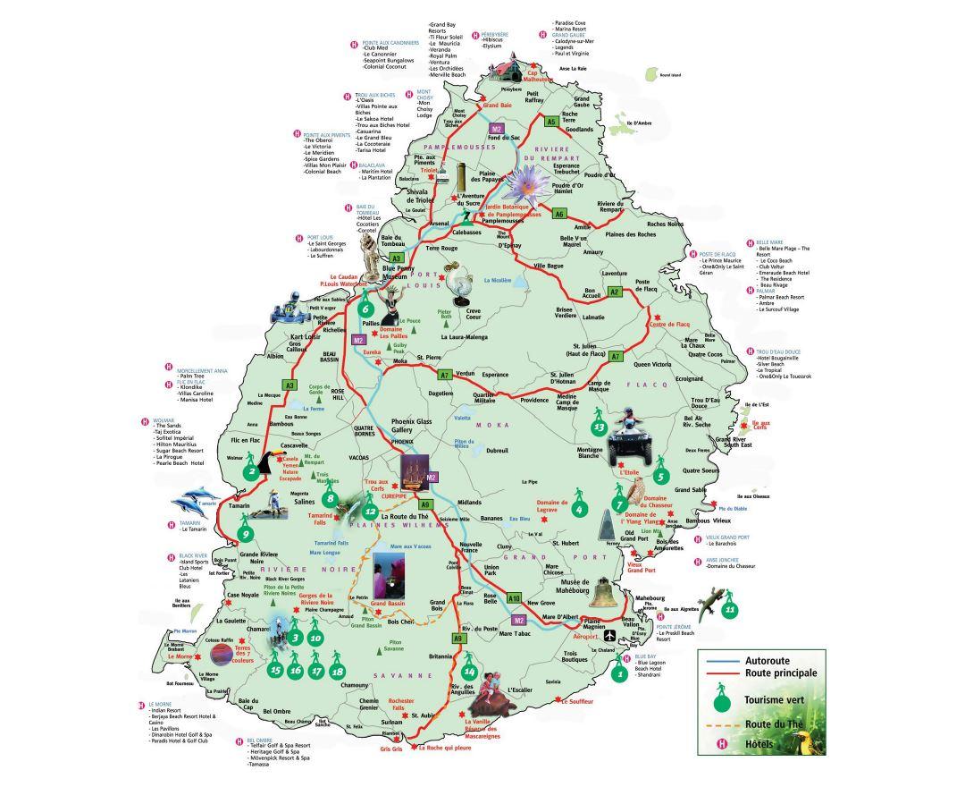 Maps Of Mauritius Detailed Map Of Mauritius In English Tourist - Mauritius maps