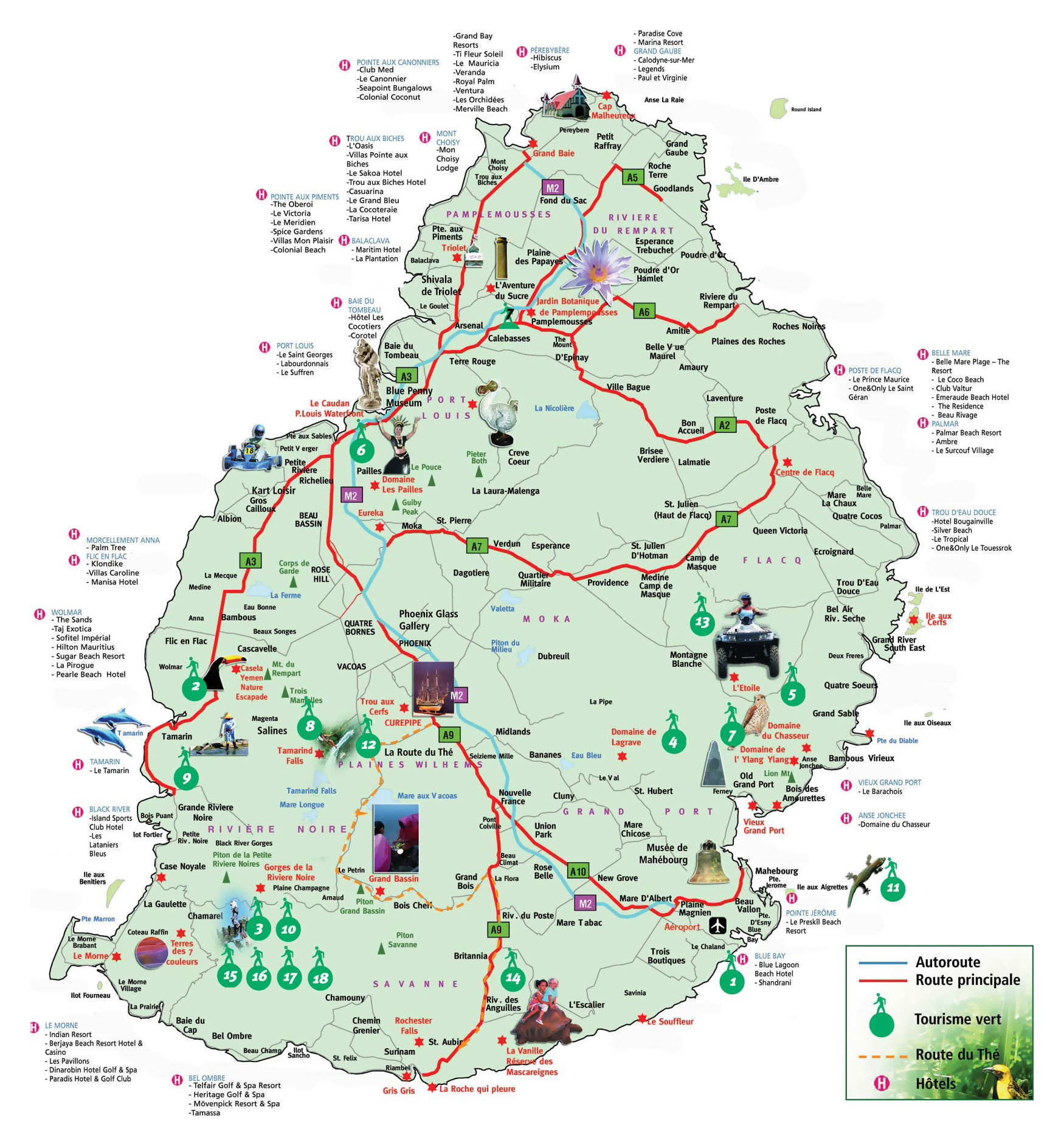 Large Mauritius Tourist Map Mauritius Africa Mapsland Maps - Africa mauritius map