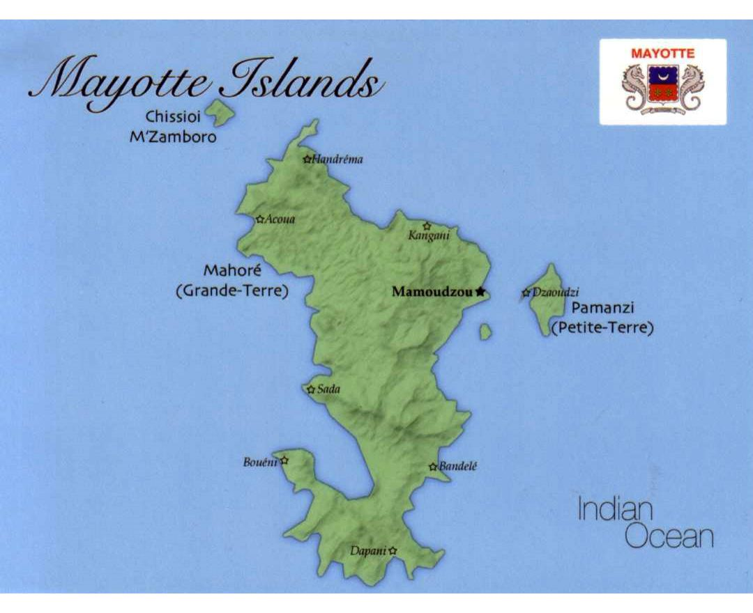 Maps of Mayotte Island Detailed map of Mayotte Island in English