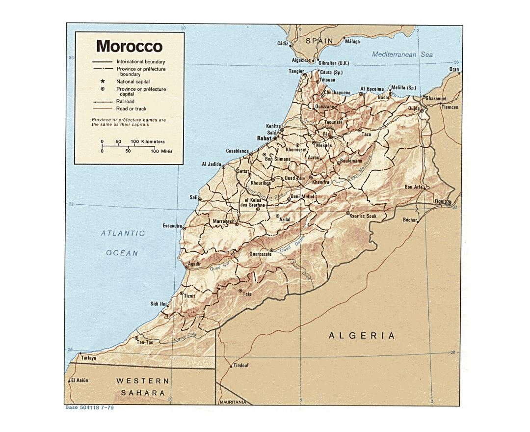 Maps of Morocco Detailed map of Morocco in English Tourist map