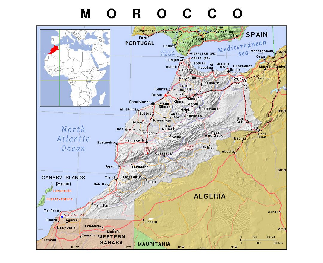 Maps Of Morocco Detailed Map Of Morocco In English Tourist Map - Map of morocco