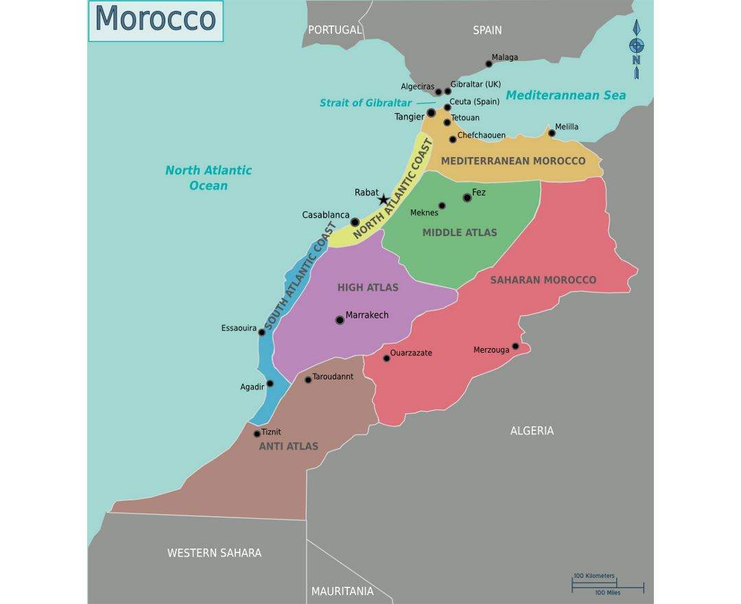 Maps of Morocco | Collection of maps of Morocco | Africa | Mapsland ...
