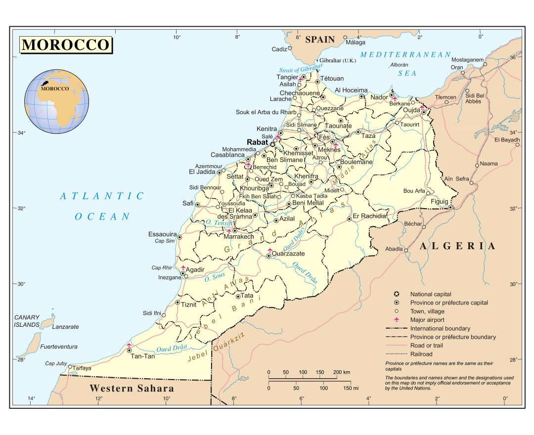 Maps of Morocco Detailed map of Morocco in English – Morocco Tourist Map
