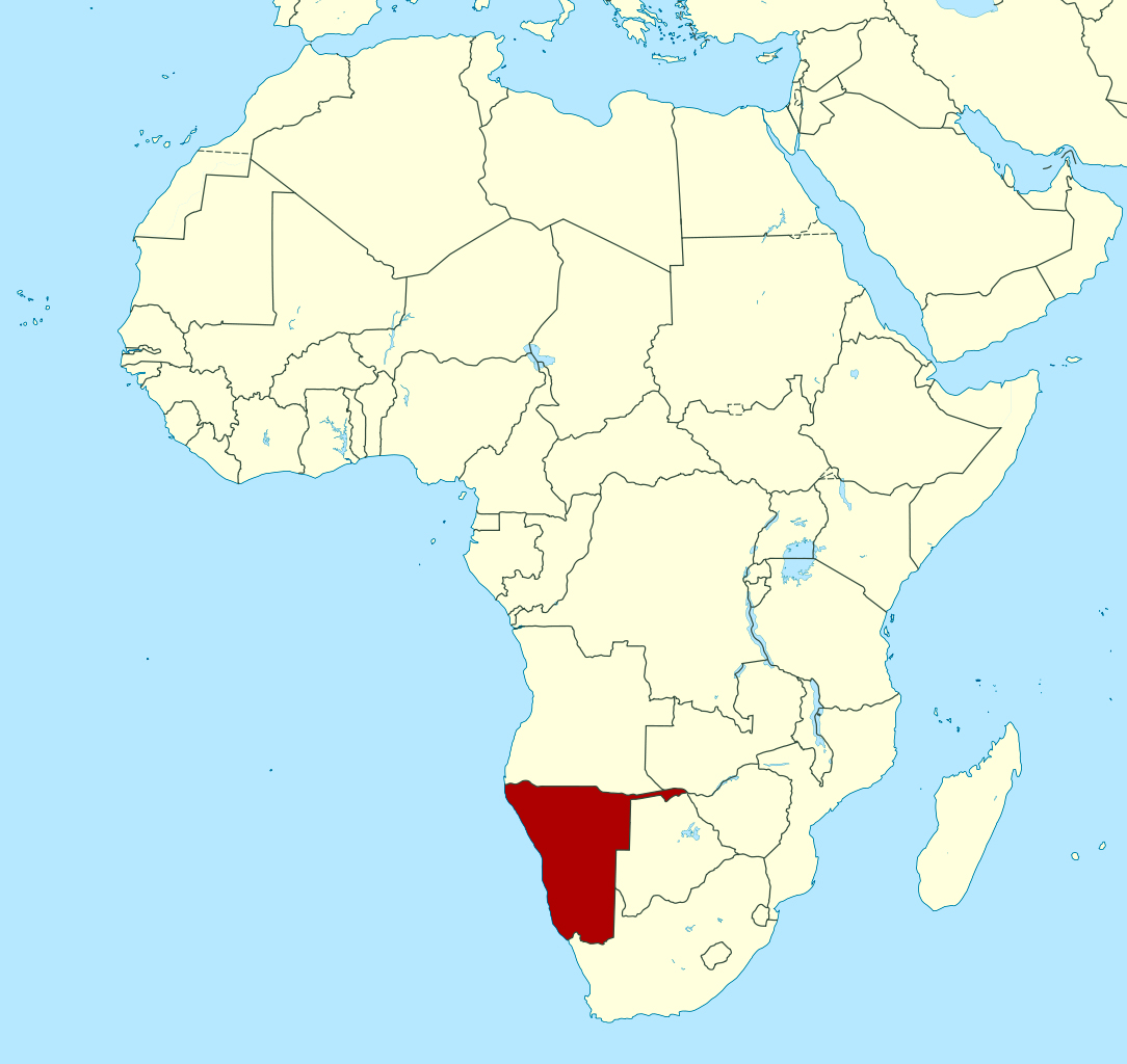Detailed location map of Namibia in Africa | Namibia | Africa