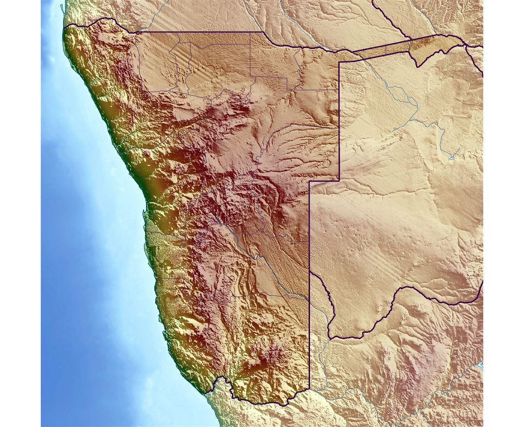 Maps of Namibia | Collection of maps of Namibia | Africa | Mapsland ...