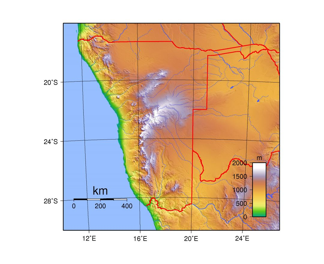 Maps Of Namibia Detailed Map Of Namibia In English Tourist Map - Namibia map