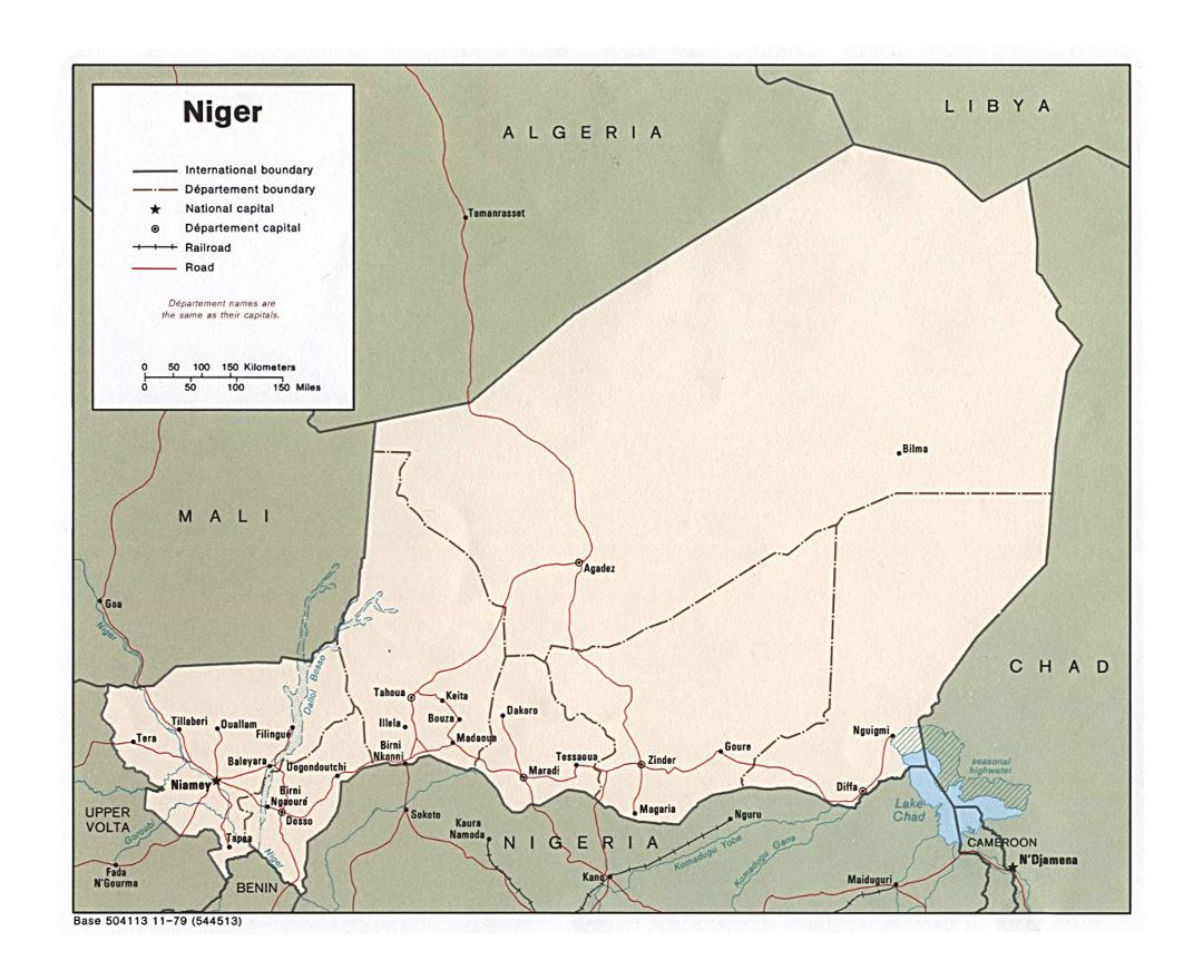 Maps of Niger | Collection of maps of Niger | Africa ...